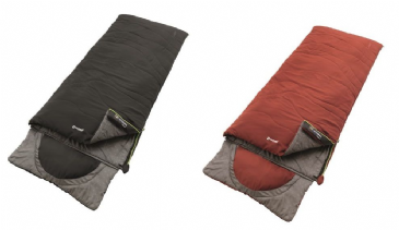 Outwell Sleeping bag Contour - Midnight Black & Ochre Red